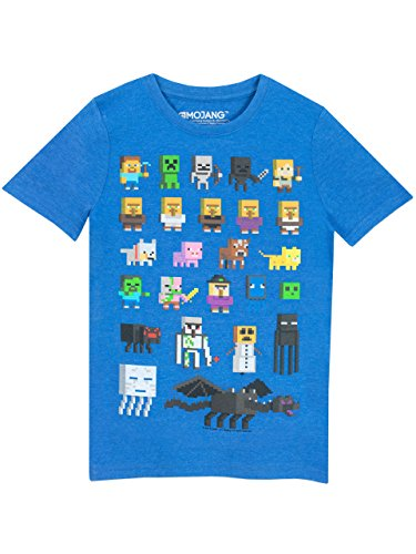 969b8b006 8 Years Blue – Minecraft Boys' Minecraft Short Sleeved T-shirt 7 ...