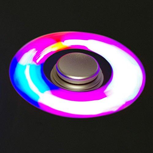 Led Light Hand Spinner Fidget Toys Aluminium Stainless