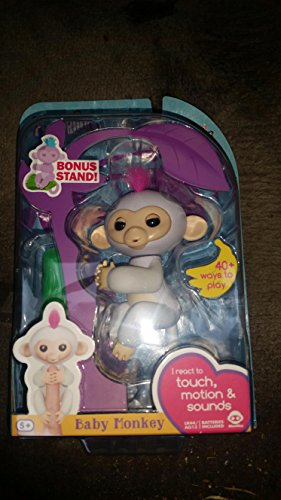 Interactive Baby Monkey Zoe Turquoise With Purple Hair
