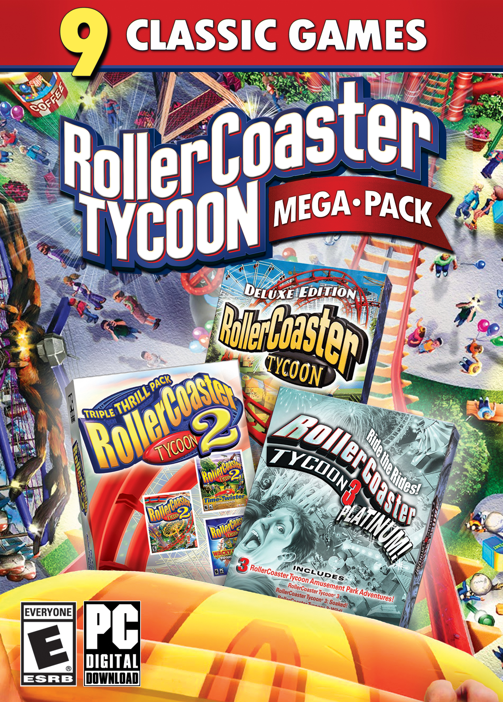 RollerCoaster Tycoon Mega Pack Download – PlayGamesly