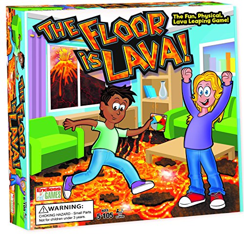 the floor is lava interactive board game for kids and adults ages 5 fun party birthday and. Black Bedroom Furniture Sets. Home Design Ideas