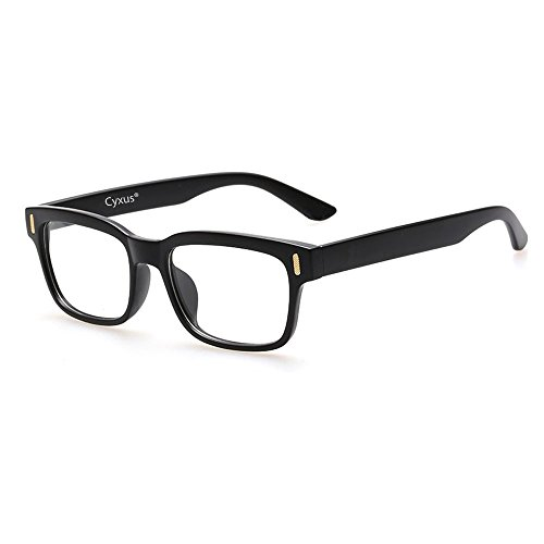 638828dba7 Cyxus Blue Light Filter Better Sleep Block UV Transparent Lens Black Frame  Vintage Glasses