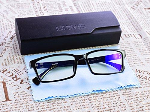 f9e44e0298 Blue Light Blocking Glasses by Bukos -- Unisex - Melatonin - Sleep Better -  LED Grow Light protection - FDA Approved - Reduce eyestrain - Gaming -  Computer ...