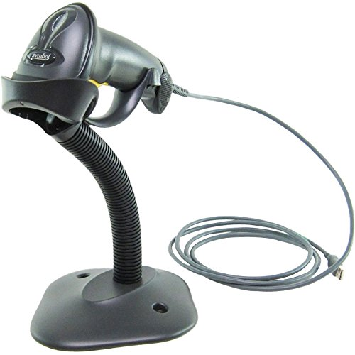 Formerly Motorola Symbol LS2208 Digital Handheld Barcode Scanner with Stand and USB Cable