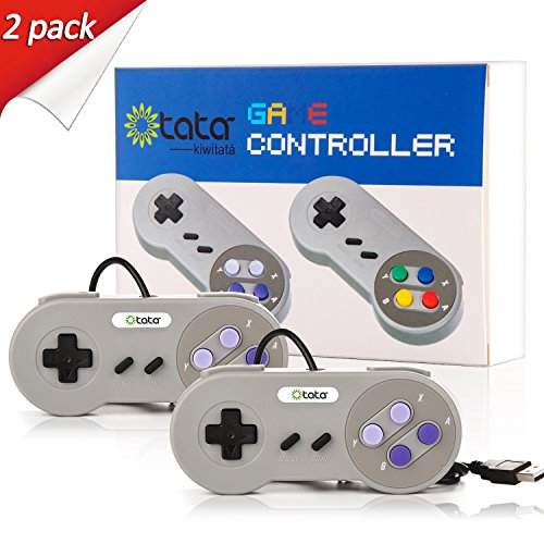 2 Packs Classic Nintendo USB NES Controller USB Famicom Controller