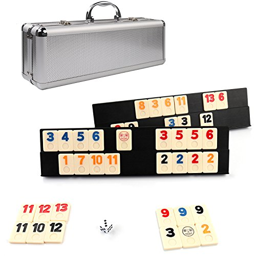Rummikub Game 106 Outlasting Color Tiles With 4 Anti Skid Durable