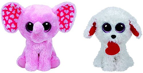 Ty Beanie Boo 2017 Valentine s Day Set of Two Beanie Boos- Honey Bun Poodle  And Sugar the Pink Elephant 6