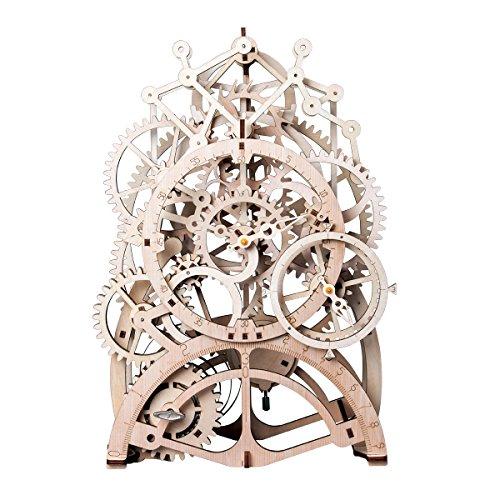Robtoime 3d Assembly Puzzles Wooden Mechanical Gears Decor Laser Cut