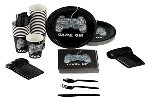 Juvale Video Game Party Supplies Serves 24 Includes Plates