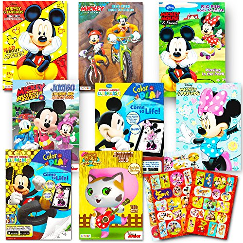 Disney Coloring Books For Kids Toddlers Bulk Set — 8 Books and ...
